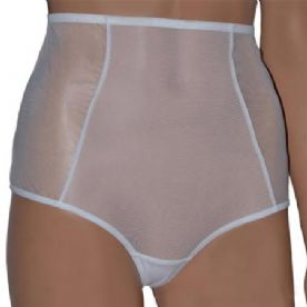 Sheer high waist panties with gold buckle detail in Black or White